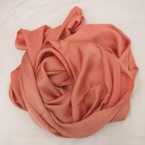 Coral Hammered Satin