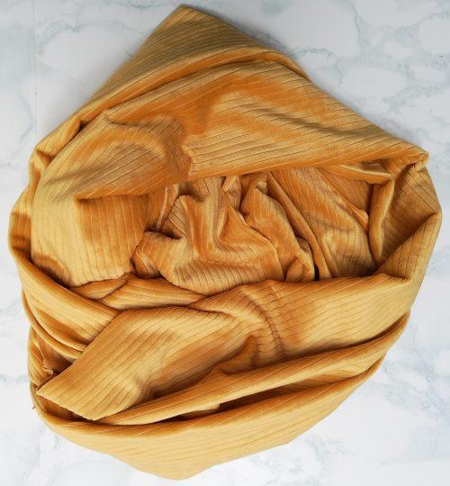 Mustard Ribbed Velvet Scarf