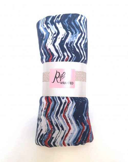 Navy Wavy Stripe Pinfree
