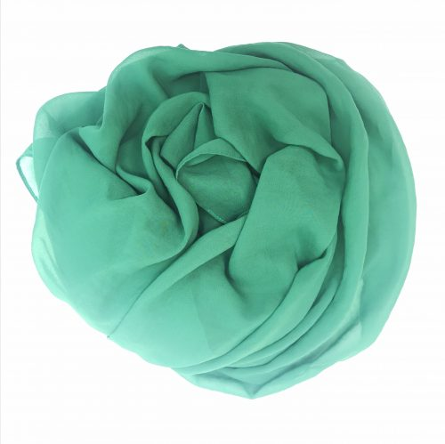 Green Satin Scarf