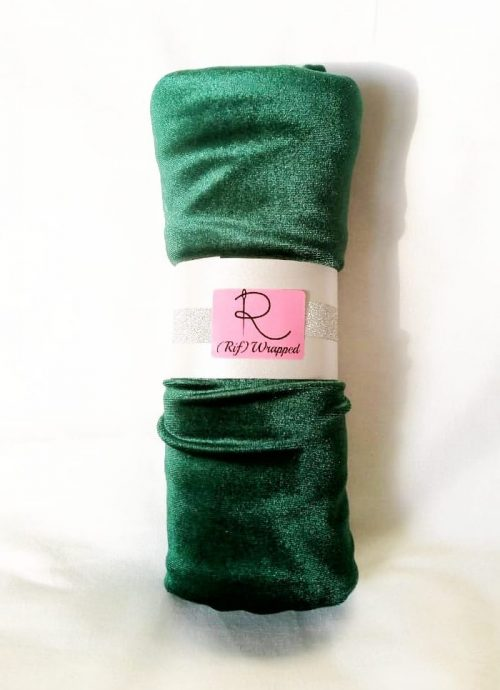 Emerald Velvet Scarf