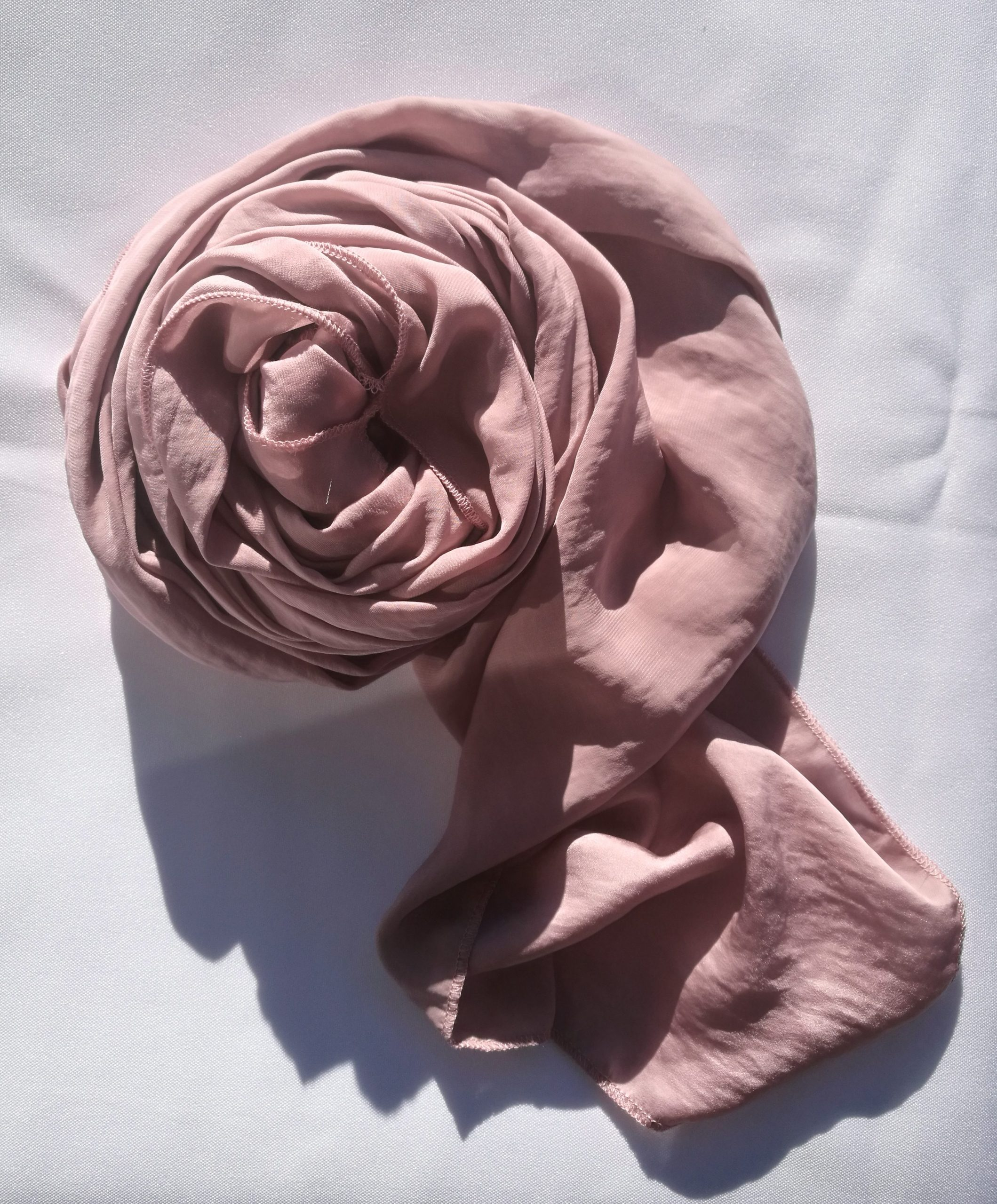 Dusty Pink Hammered Satin Scarf