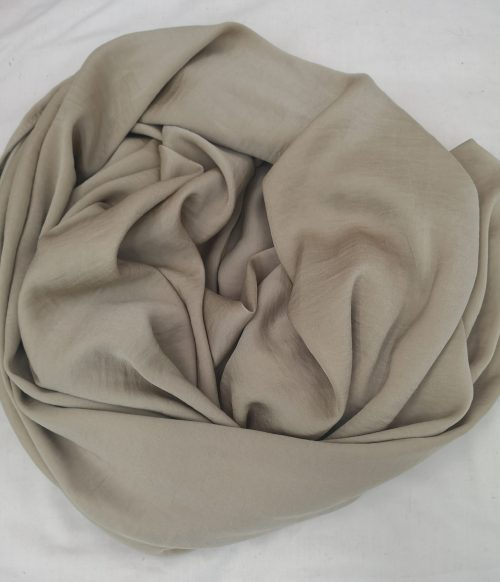 Beige Hammered Satin