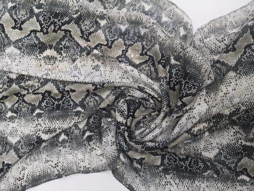 Snakeskin Georgette
