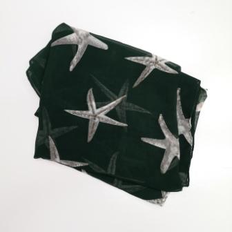 Emerald Green Starfish Chiffon