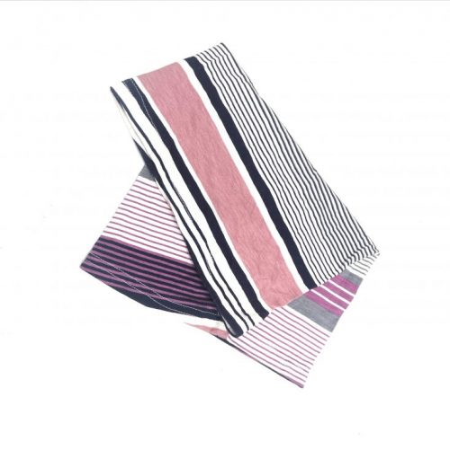 Navy, Grey and Pink Stripe Underscarf